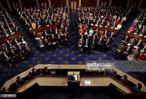 South Korean President Lee Myungbak addresses a joint meeting of the US Congress at the US Capitol October 13 2011 in Washington DC Earlier in the...