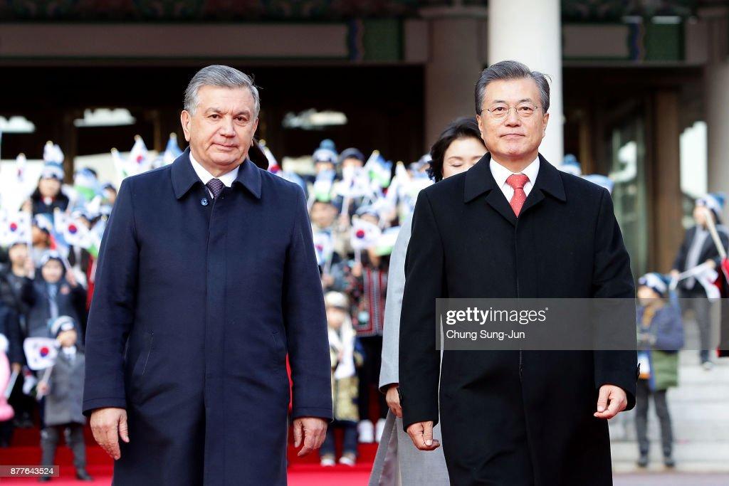 Uzbekistan President Shavkat Mirziyoyev Visits South Korea