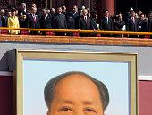 South Korean President Park Geun Hye Russian President Vladimir Putin Chinese President Xi Jinping former Chinese President Jian Zemin former Chinese...