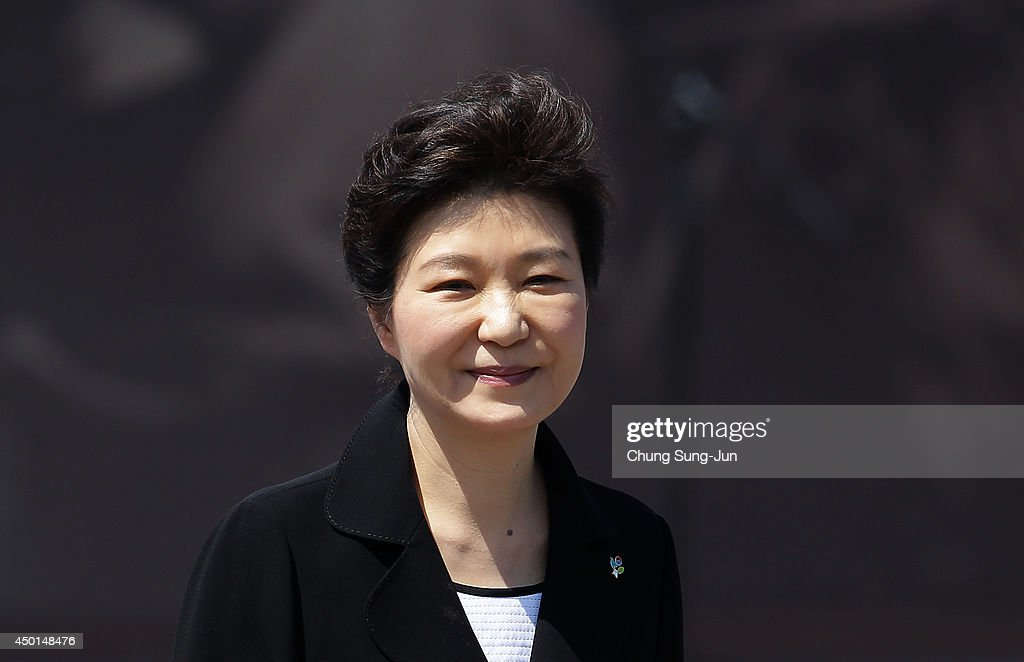 South Korean President Park Geun-Hye attends the ceremony marking Korean Memorial Day at the Seoul National Cemetery on June 6, 2014 in Seoul, South Korea. South Korea marks the 59th anniversary of the Memorial Day for people who died during the military service in the 1950-53 Korean War.