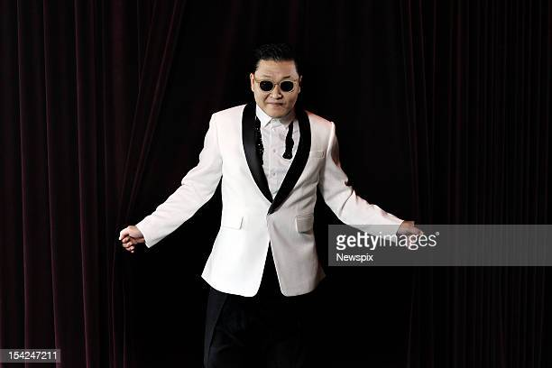 South Korean rap singer Psy poses during a portrait shoot at the Marquee Nightclub at The Star on October 16 2012 in Sydney Australia Psy who's real...