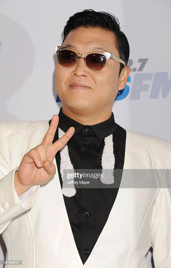 South Korean Rapper PSY attends the KIIS FM's Jingle Ball 2012 held at Nokia Theatre LA Live on December 3, 2012 in Los Angeles, California.