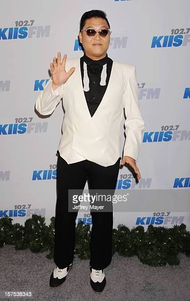 South Korean Rapper PSY attends the KIIS FM's Jingle Ball 2012 held at Nokia Theatre LA Live on December 3 2012 in Los Angeles California