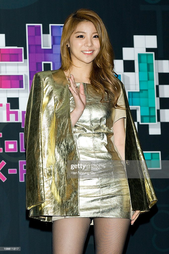 South Korean singer Ailee arrives at the 2012 SBS Korea Pop Music Festival named 'The Color Of K-Pop' at Korea University on December 29, 2012 in Seoul, South Korea.