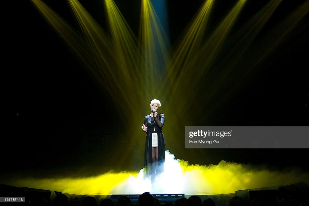 South Korean singer Ali performs onstage during the Mnet 'M CountDown' at CJ E&M Building on February 14, 2013 in Seoul, South Korea.