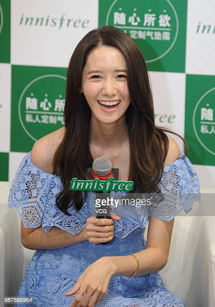 South Korean singer and actress Im Yoona attends Innisfree activity on August 8 2016 in Shanghai China