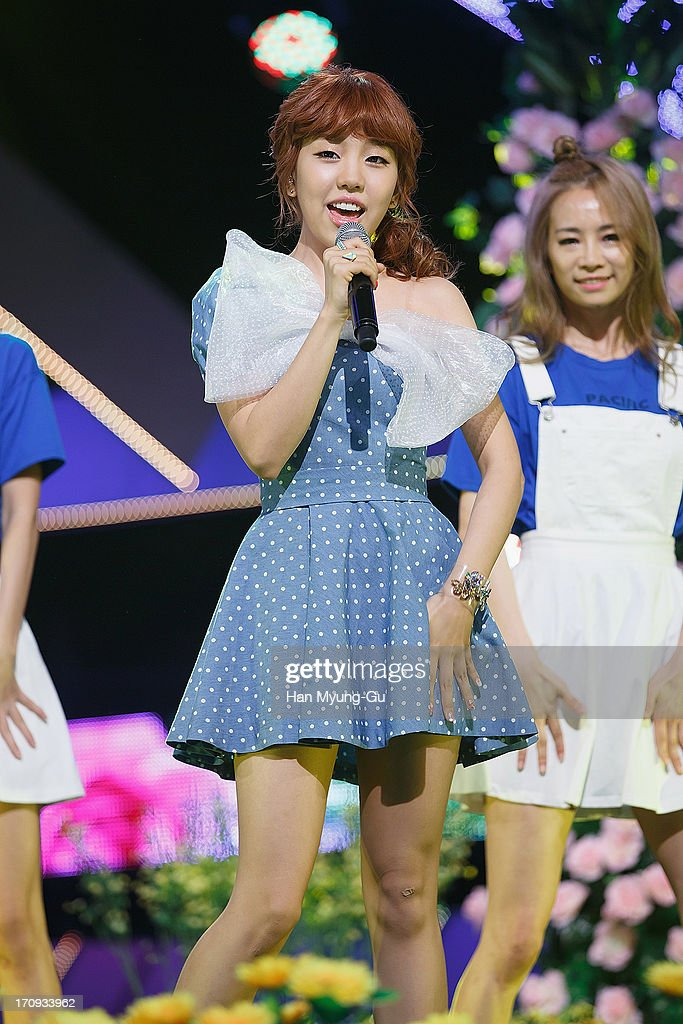 South Korean singer Baek A-Yeon performs onstage during the Mnet 'M CountDown' at CJ E&M Center on June 20, 2013 in Seoul, South Korea.