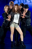 South Korean singer BoA Kwon performs onstage during the Promotional event of 'Hyundai Motor Company' Premium Younique Lifestyle Auto Runway Show at...