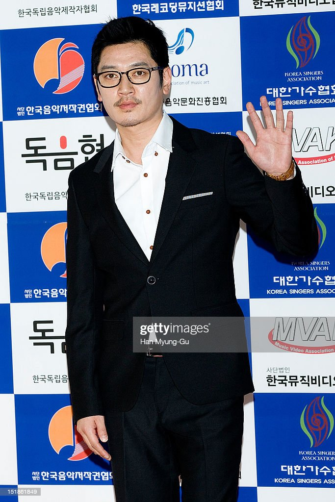 South Korean singer Bobby Kim arrives the launch event of 'Popular Music Promotion Committee' on September 12, 2012 in Seoul, South Korea.
