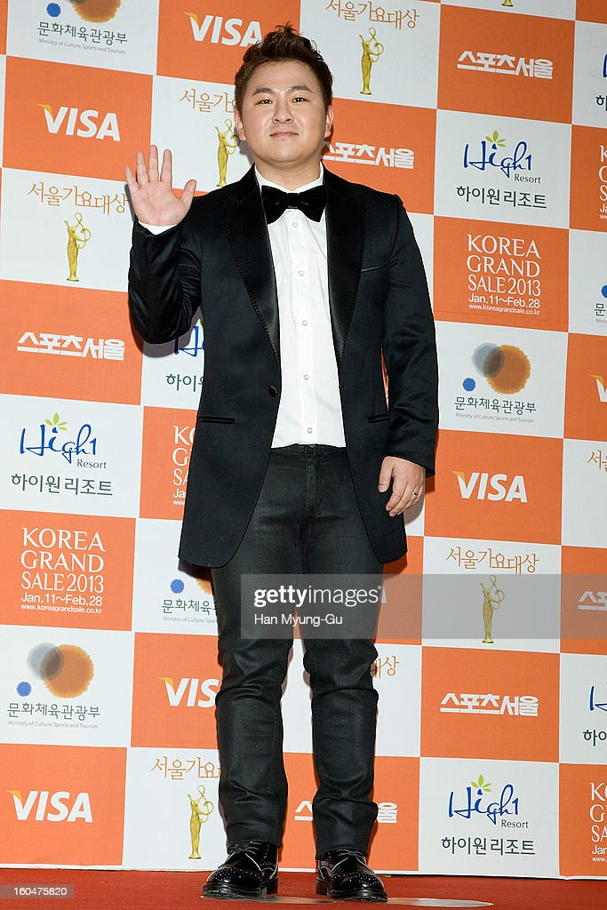 South Korean singer Huh Gak attends the 22nd High1 Seoul Music Awards at SK Handball Arena on January 31, 2013 in Seoul, South Korea.