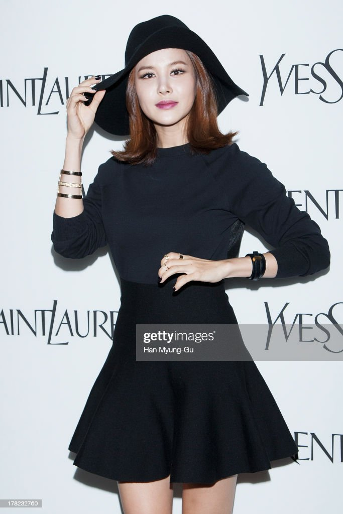 South Korean singer IVY attends during the 'Forever Youth Liberator' launch party hosted by Yves Saint Laurent Skin Care at the Cais Gallery on August 27, 2013 in Seoul, South Korea.