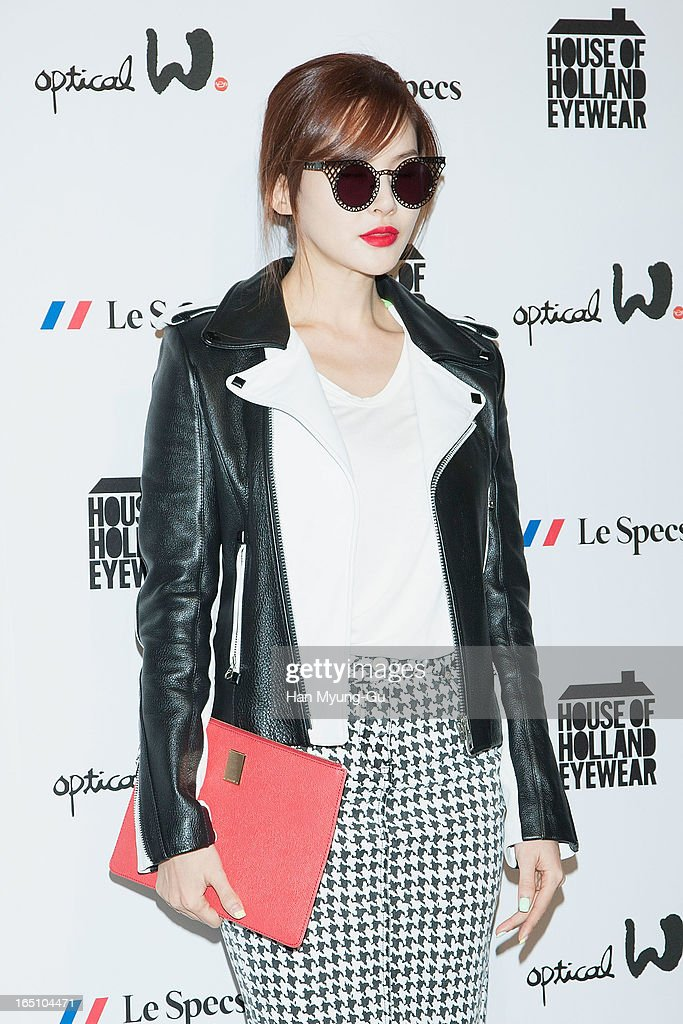 South Korean singer IVY (Park Eun-Hye) attends during the 'Optical W' 2013 S/S Presentation on March 29, 2013 in Seoul, South Korea.