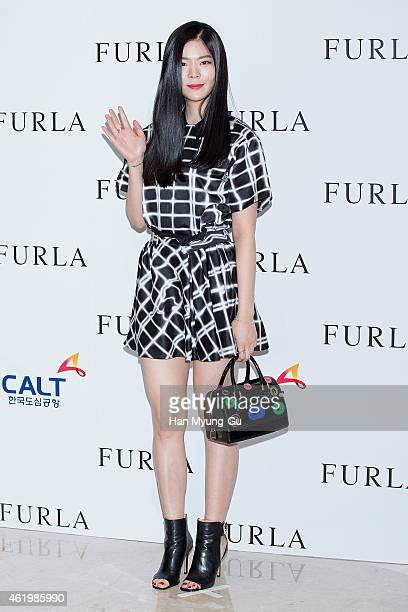 South Korean singer Jang Jane attends the FURLA 2015 SS presentation at COEX Mall on January 22 2015 in Seoul South Korea
