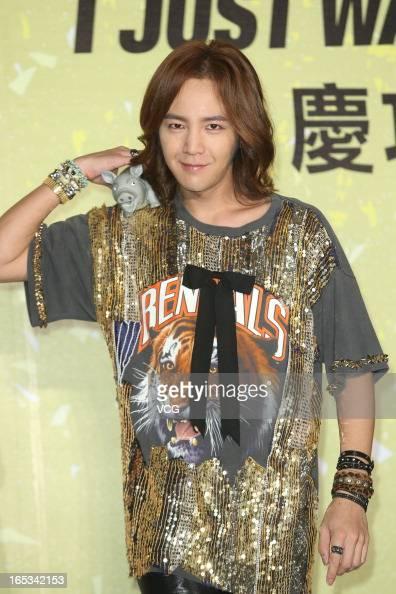 South Korean singer Jang Keun Suk attends a press conference at Grand Formosa Regent Hotel on April 3 2013 in Taipei Taiwan