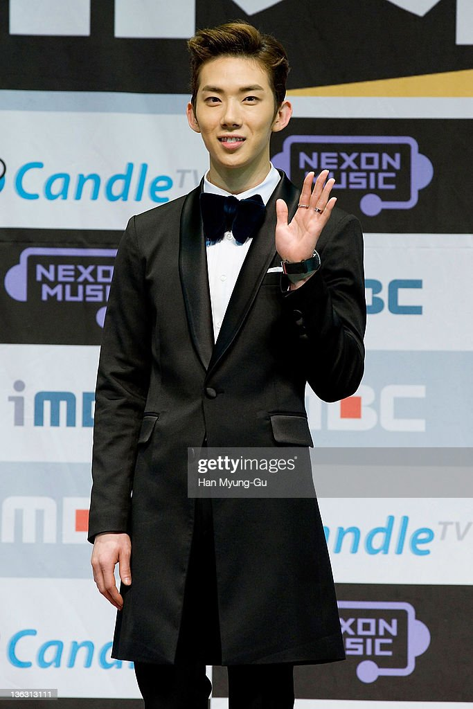 South Korean singer Jo Kwon of 2AM attends during the 2011 MBC Korean Music Festival at Speedom on December 31, 2011 in Gyeonggi-do, South Korea.