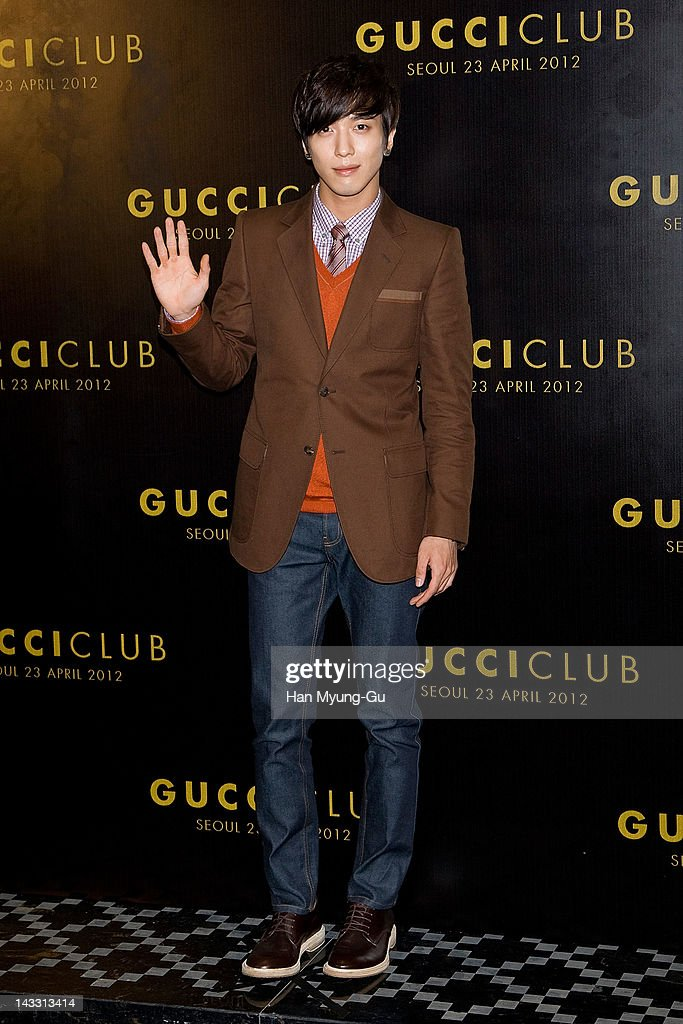 South Korean singer <a gi-track='captionPersonalityLinkClicked' href=/galleries/search?phrase=Jung+Yong+Hwa&family=editorial&specificpeople=7419730 ng-click='$event.stopPropagation()'>Jung Yong Hwa</a> of CNBLUE attends the Reopening of Gucci's Seoul Flagship Store on April 23, 2012 in Seoul, South Korea.