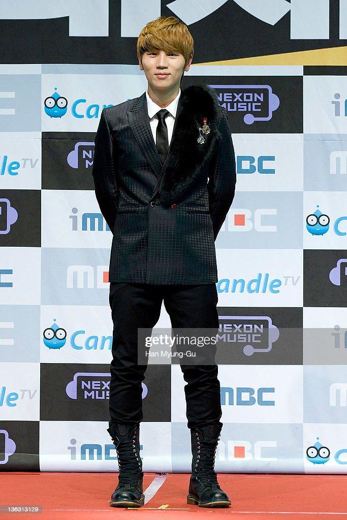 South Korean singer K. Will attends during the 2011 MBC Korean Music Festival at Speedom on December 31, 2011 in Gyeonggi-do, South Korea.