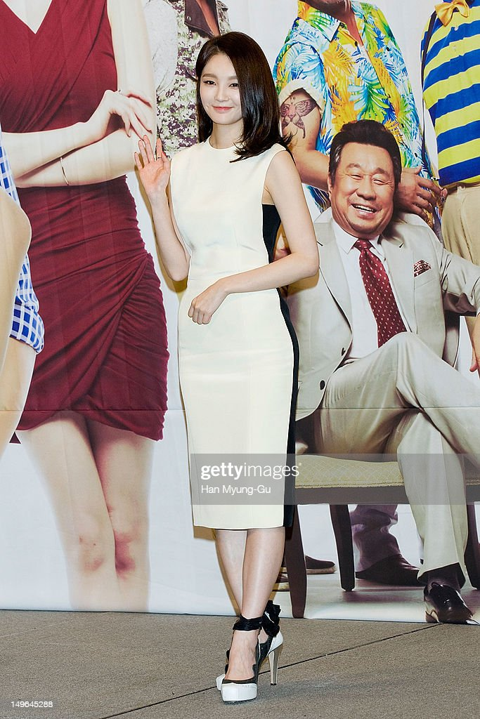 South Korean singer Kang MinKyung of Davichi attends a press conference to promote the KBS drama 'Haeundae Lovers' at Imperial Palace Hotel on August...