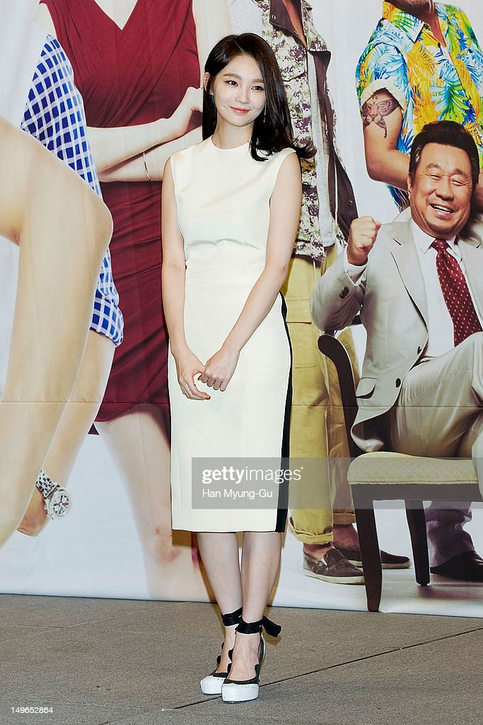 South Korean singer Kang Min-Kyung of Davichi attends during a press conference to promote the KBS drama 'Haeundae Lovers' at Imperial Palace Hotel on August 01, 2012 in Seoul, South Korea. The drama will open on August 06 in South Korea.