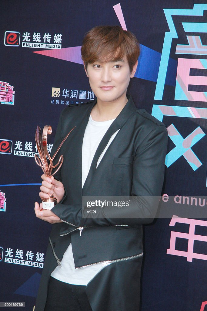 South Korean singer Kangta Ahn Chil-hyun attends the 16th Top Chinese Music Annual Festival on April 9, 2016 in Shenzhen, Guangdong Province of China.