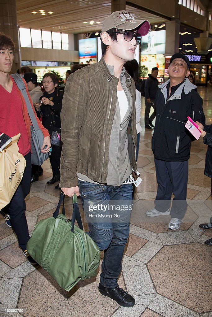South Korean singer Kangta is seen on departure at Gimpo International Airport on October 25, in Seoul, South Korea.