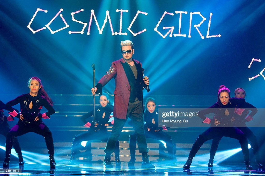 South Korean singer Kim Tae-Woo performs onstage during the MBC Music 'Show Champion' at Uniqlo-AX Hall on March 13, 2013 in Seoul, South Korea.