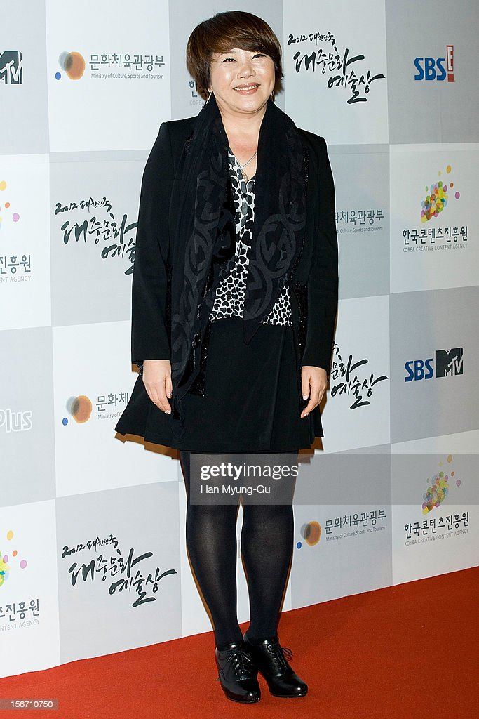 South Korean singer Lee Eun-Ha attends during the 2012 Korea Popular Culture Art Awards at Olympic Hall on November 19, 2012 in Seoul, South Korea.