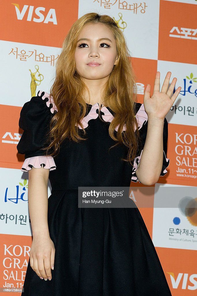 South Korean singer Lee Hi attends the 22nd High1 Seoul Music Awards at SK Handball Arena on January 31, 2013 in Seoul, South Korea.