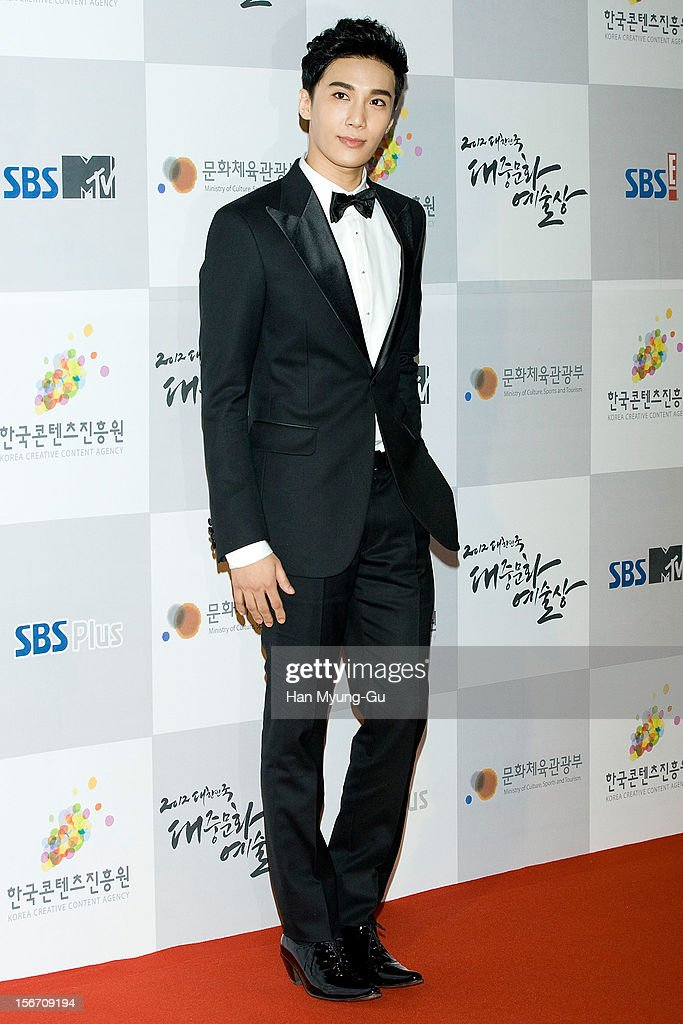 South Korean singer Park Jung-Min attends during the 2012 Korea Popular Culture Art Awards at Olympic Hall on November 19, 2012 in Seoul, South Korea.