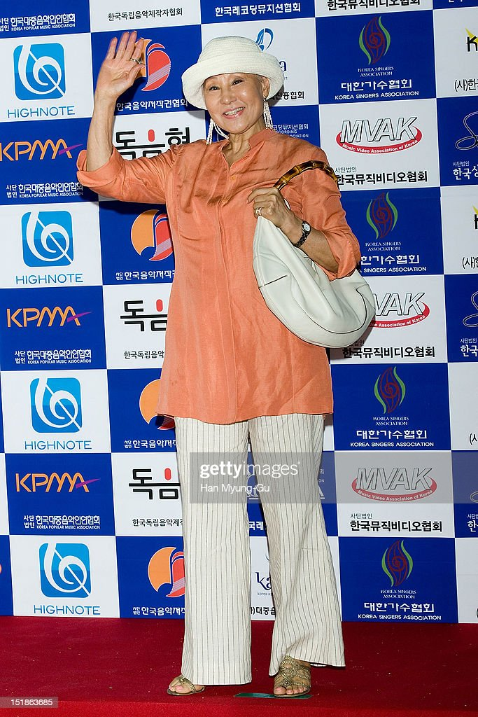 South Korean singer Patti Kim arrives the launch event of 'Popular Music Promotion Committee' on September 12, 2012 in Seoul, South Korea.