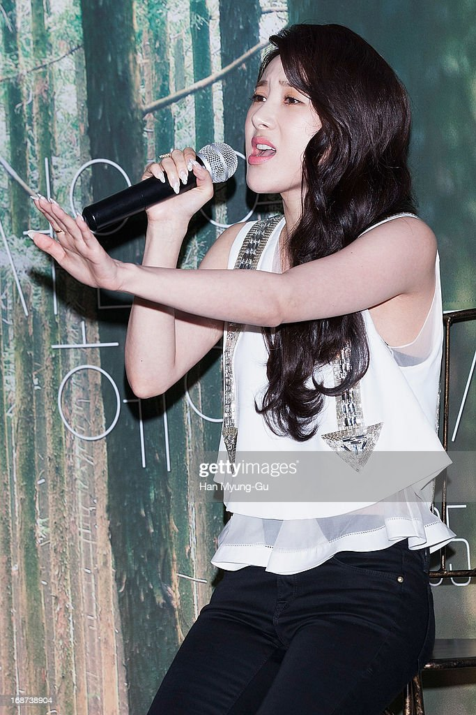 South Korean singer Seo In-Young performs onstage live during her mini album 'Forever Young' Showcase on May 14, 2013 in Seoul, South Korea.