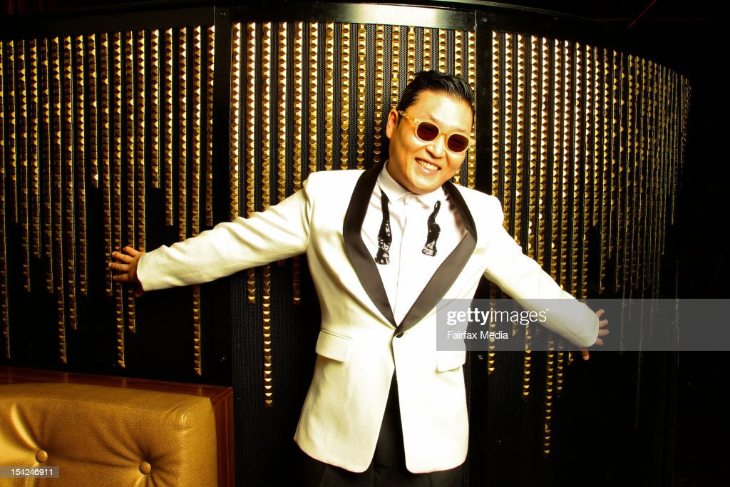South Korean singer, songwriter <a gi-track='captionPersonalityLinkClicked' href=/galleries/search?phrase=Psy+-+Entertainer&family=editorial&specificpeople=9699998 ng-click='$event.stopPropagation()'>Psy</a> poses during a portrait shoot at the Marquee Club, The Star on October 16, 2012 in Sydney, Australia.