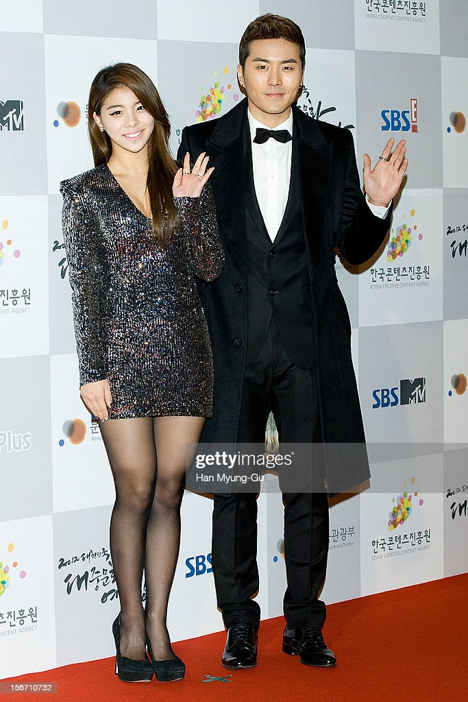 South Korean singers Ailee and Eru attend during the 2012 Korea Popular Culture Art Awards at Olympic Hall on November 19, 2012 in Seoul, South Korea.
