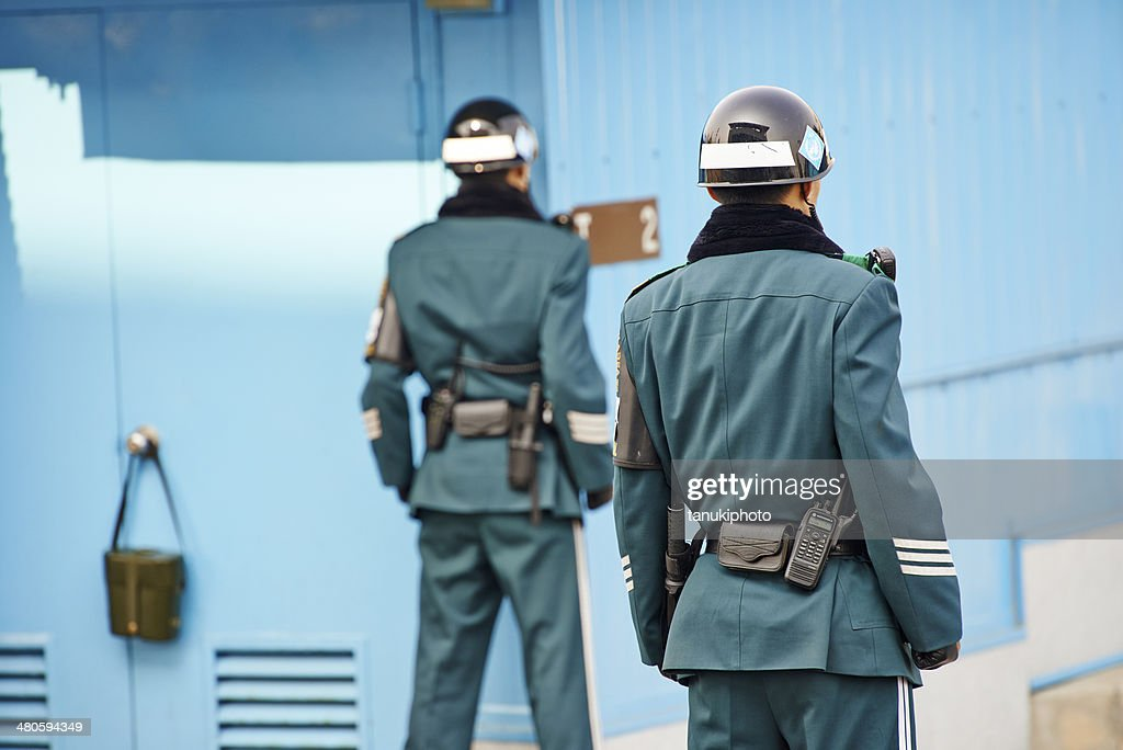 South Korean Soldiers in the JSA : Stock Photo