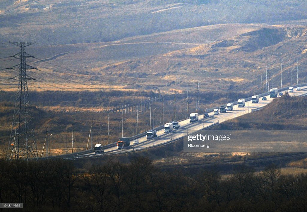 South Korean trucks pass through the Demilitarized Zone of Paju South Korea on Friday Nov 28 2008 North Korea has said it will halt a crossborder...