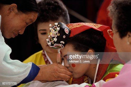 South Korean Wedding Ceremony Stock Photo