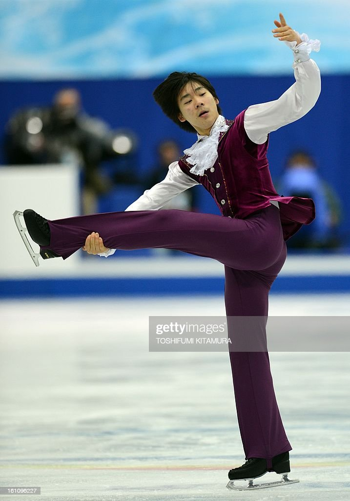 South Korea's Lee June-Hyoung performs his free skating in the men's event during the Four Continents figure skating championships in Osaka on February 9, 2013.