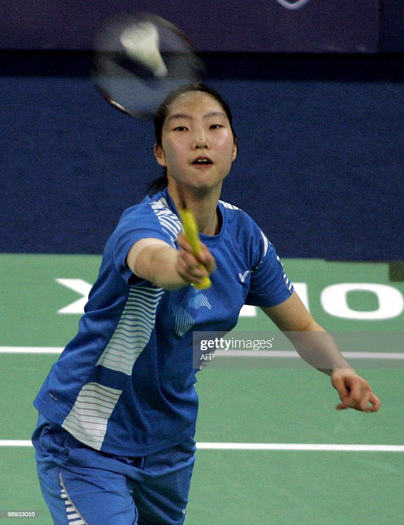 South Korea s Sung Ji Hyun plays a shot