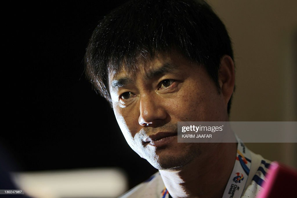 South Korea's Suwon Samsung Bluewings coach Yoon Sung-Hyo listens to a question during a press conference at Al-Sadd Stadium in Doha on October 25, 2011 on the eve of his team's AFC Champions League match against Qatar's Al-Sadd.