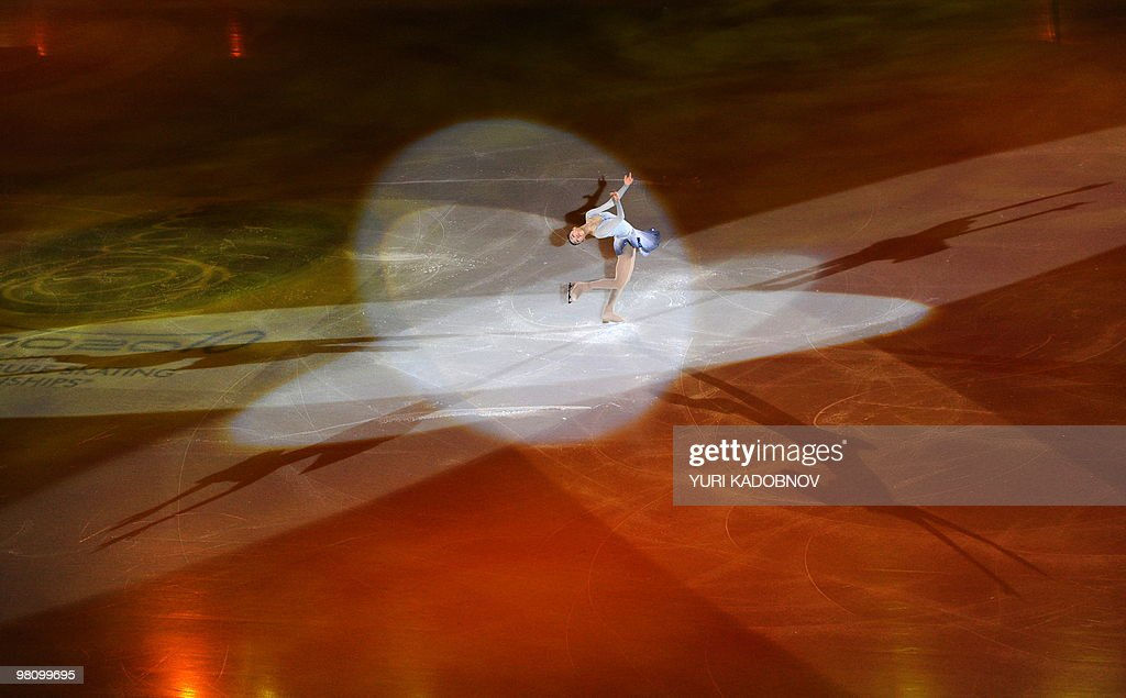 South Korea's Yu-Na Kim performs during the exhibition gala of the World Figure Skating Championships on March 28, 2010 at the Palavela ice-rink in Turin.
