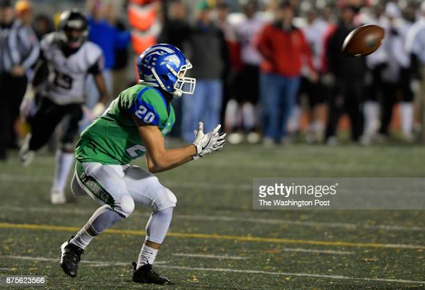South Lakes' Xavier May is all alone in gathering a 2nd quarter touchdown during South Lakes' defeat of Madison in a Virginia state playoff game at...