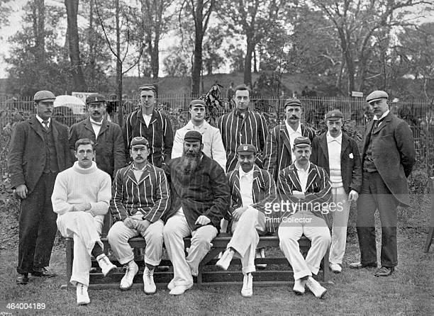South of England XI cricket team vs The Australians c1899 Back row VA Titchmarsh Bill Brockwell Charlie Townsend Gilbert Jessop Jack Mason Jack Board...