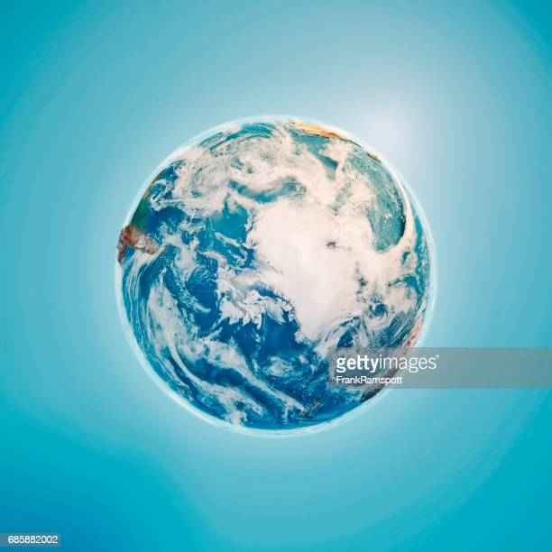 South Pole 3D Render Planet Earth Clouds