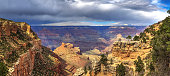 South Rim of Grand Canyon National Park with cloudscape