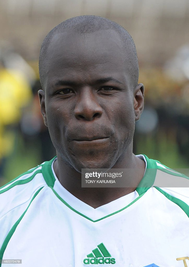 South Sudan's Edomon Amadeo poses ahead of the Council for East and Central Africa Football Associations (CECAFA) Cup football tournament match between South Sudan and Zanzibar in Nairobi, on November 27, 2013.