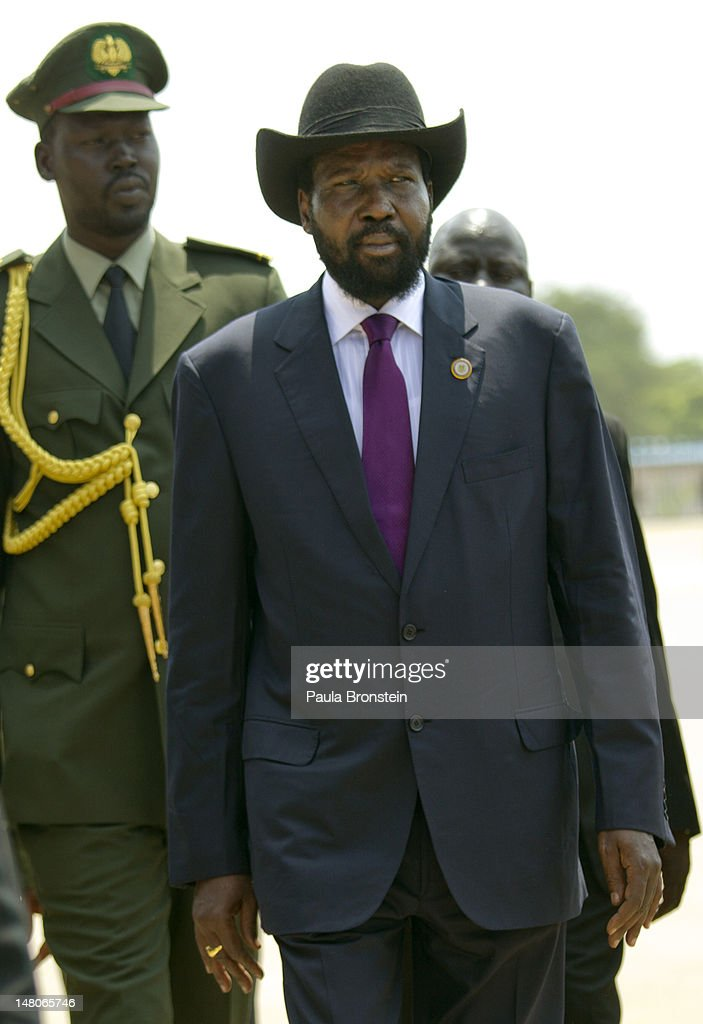 South Sudan's first president, Salva Kiir is escorted by security during a ceremony celebrating South Sudan's first Independence day on July 9, 2012 in Juba, South Sudan. After breaking away from Sudan last year, South Sudan is getting ready for its first independence anniversary celebrations. Over the past year repeated conflict with North Sudan, corruption scandals and economic difficulties have plagued the new country. Further problems caused by the shutdown of its oil production have led to a sharp decline in its currency and a rise in the price of food and fuel.