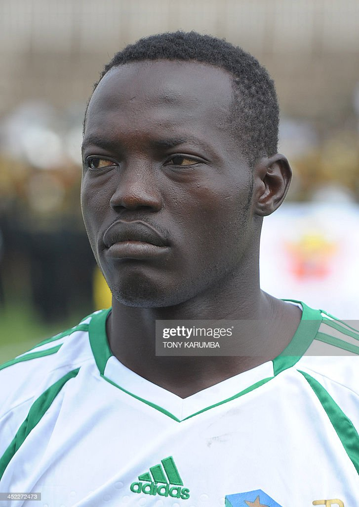 South Sudan's Godfrey Peter poses ahead of the Council for East and Central Africa Football Associations (CECAFA) Cup football tournament match between South Sudan and Zanzibar in Nairobi, on November 27, 2013.