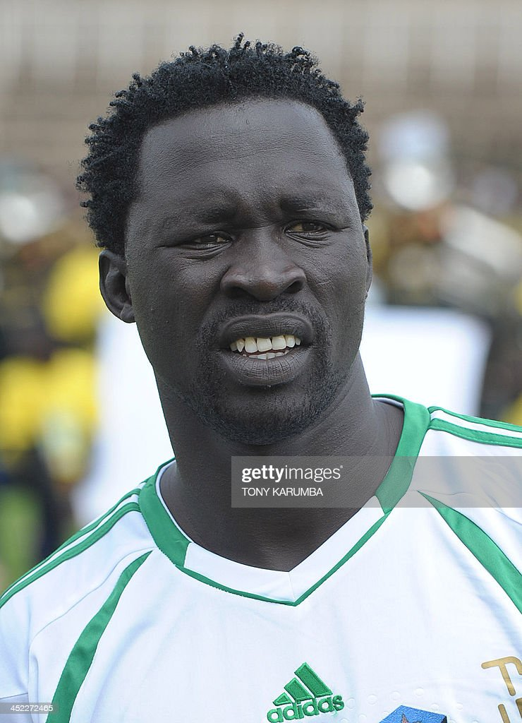 South Sudan's Thomas Jacob poses ahead of the Council for East and Central Africa Football Associations (CECAFA) Cup football tournament match between South Sudan and Zanzibar in Nairobi, on November 27, 2013.