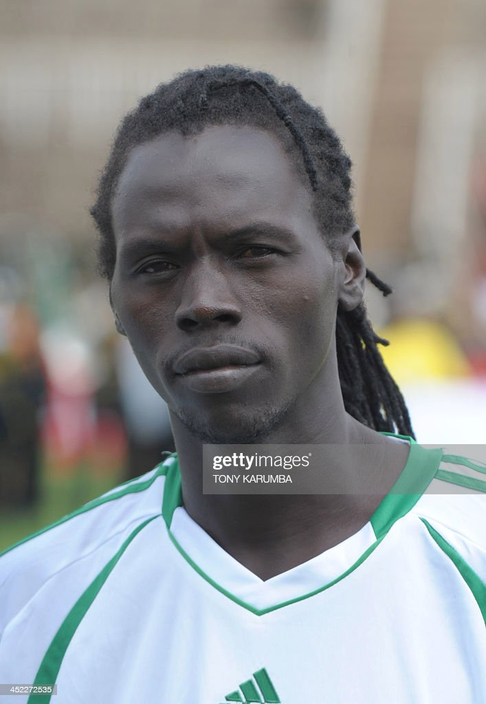 South Sudan's William Ofiri poses ahead of the Council for East and Central Africa Football Associations (CECAFA) Cup football tournament match between South Sudan and Zanzibar in Nairobi, on November 27, 2013.