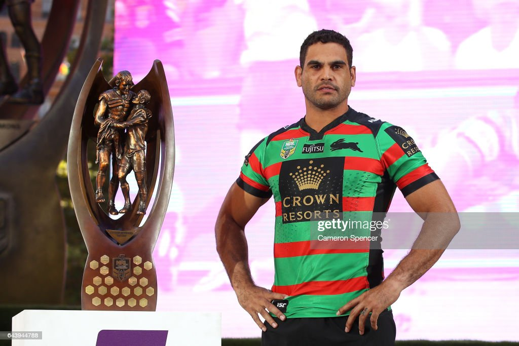 South Sydney Rabbitohs captain Greg Inglis is introduced during the 2017 NRL Season Launch at Martin Place on February 23, 2017 in Sydney, Australia.